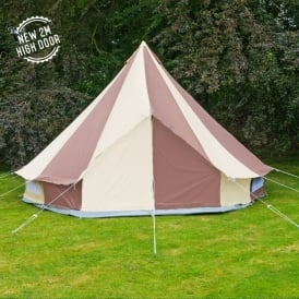4m Cookies and Cream Canvas Bell Tent