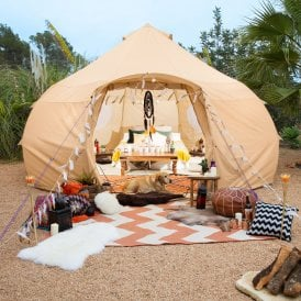 4m Luna Dome Bell Tent | Luxury Yurt Tent | Front View