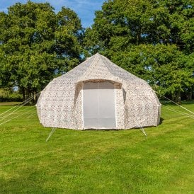Boutique Camping Tents 4m Luna Weekender Polyester Bell Tent - Aztec