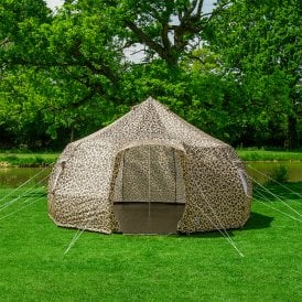 4m Luna Weekender Bell Tent | Leopard | Dome Yurt Style