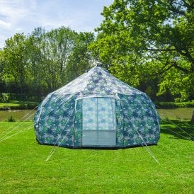 4m Luna Weekender Bell Tent | Palm Leaf | Dome Yurt Style