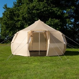 Boutique Camping Tents 4m Luna Weekender Polyester Bell Tent - Sandstone