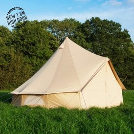 4m Oxford Bell Tent - Sandstone Canvas