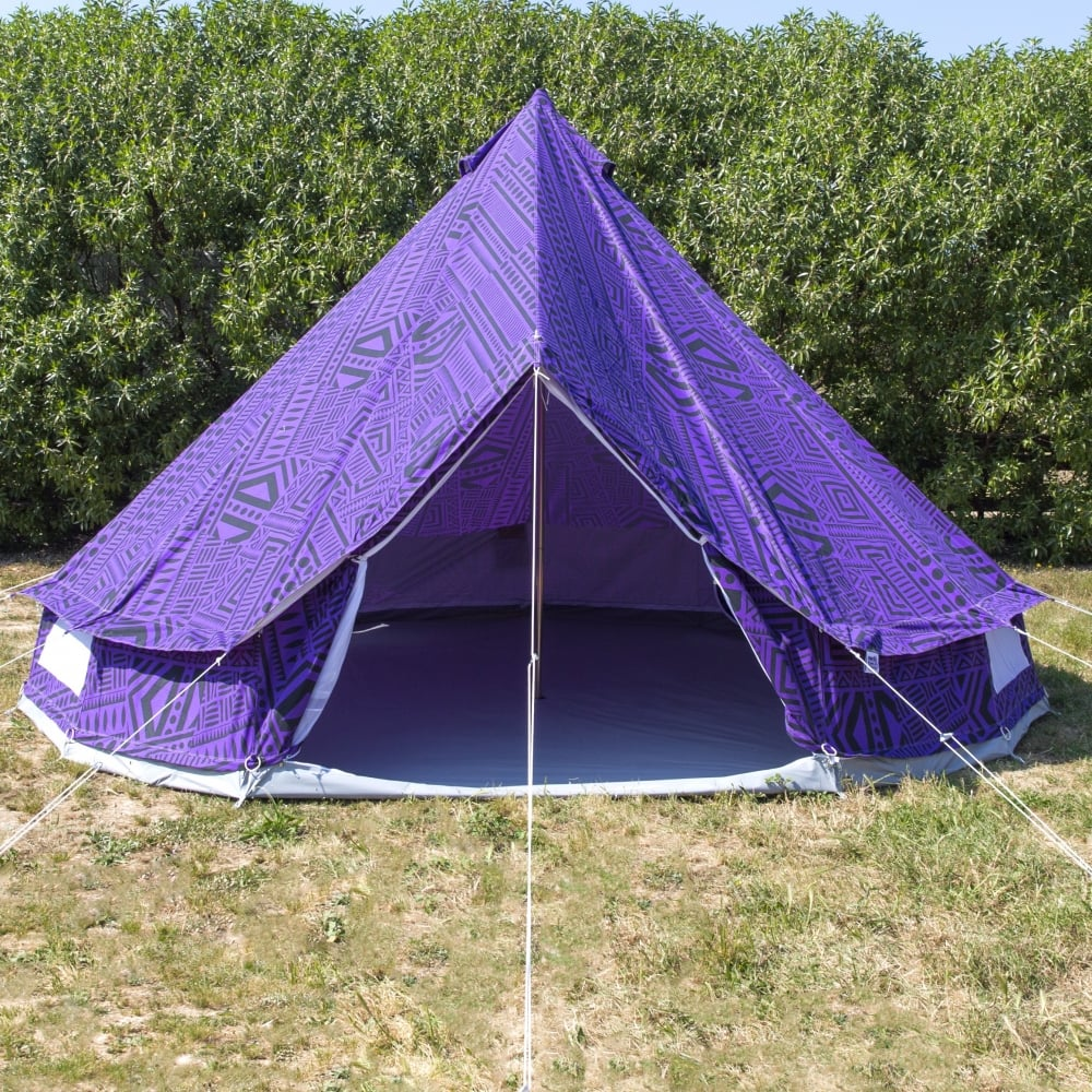 4m Purple Rain Bell Tent With Zipped in Ground Sheet & Purple Rain Bell Tent With Zipped in Ground Sheet