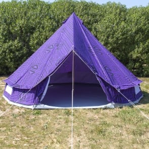 4m Purple Rain Bell Tent With Zipped in Ground Sheet