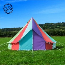 Boutique Camping Tents 4m Rainbow Canvas Bell Tent