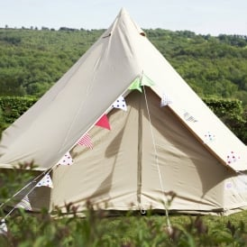 Boutique C&ing 4m Sandstone Bell Tent - Single Door & 4 Metre Tents | 4m Canvas Bell Tents for Glamping | Boutique Camping