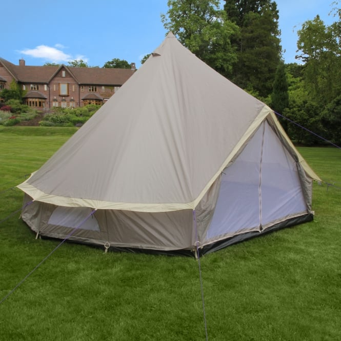 4m Weekender Polyester Bell Tent - Brown