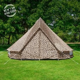 Boutique Camping Tents 4m Weekender Polyester Bell Tent - Leopard Print