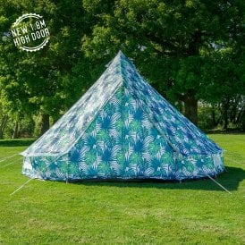 Boutique Camping Tents 4m Weekender Polyester Bell Tent - Palm Leaf