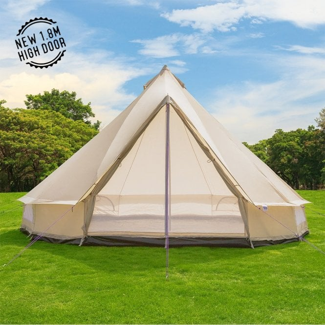 4m Weekender Polyester Bell Tent - Sandstone