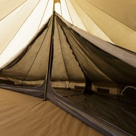5m Dark Inner Tent for a Bell Tent - Double Compartment