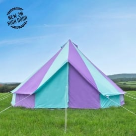 Boutique Camping Tents 5m Harlequin Canvas Bell Tent