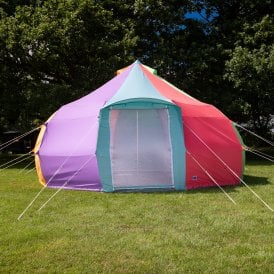 5m Luna Rainbow Bell Tent | Dome Yurt Tent | Front View