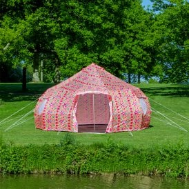 5m Luna Weekender Bell Tent | L.O.M Collaboration | Dome Yurt Style
