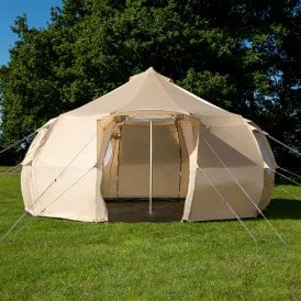 5m Luna Weekender Bell Tent | Dome Yurt Tent | Front View