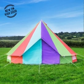 Boutique Camping Tents 5m Rainbow Canvas Bell Tent