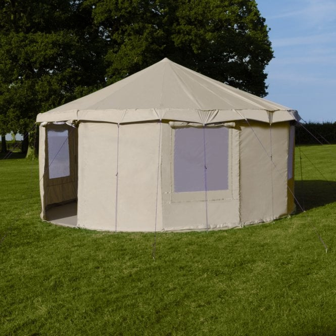 5m Sandstone Canvas Yurt Tent