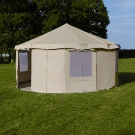 Boutique Camping Tents 5m Sandstone Canvas Yurt Tent
