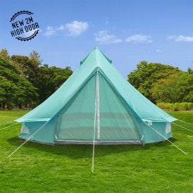 5m Sky Blue Canvas Bell Tent