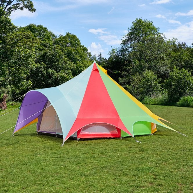 5m Star Weekender Polyester Bell Tent - Rainbow