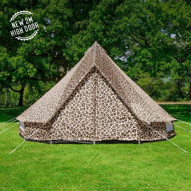 5m Weekender Polyester Bell Tent - Leopard Print