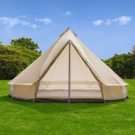 5m Weekender Polyester Bell Tent - Sandstone