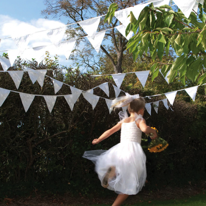 5m White Wedding Bunting