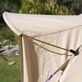 Boutique Camping Tents 6m Luna Emperor Bell tent bendy door pole