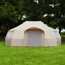 6m Luna Emperor Bell Tent | Luxury Dome Yurt Tent | Side View