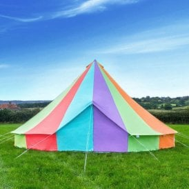 Boutique Camping Tents 6m Rainbow Canvas Bell Tent