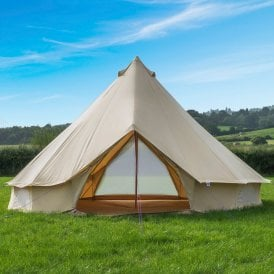 6m Sandstone Canvas Bell Tent - Double Door