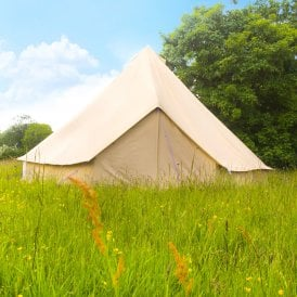 6m Sandstone Canvas Bell Tent - Single Door
