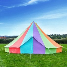Boutique Camping Tents 7m Rainbow Canvas Bell Tent