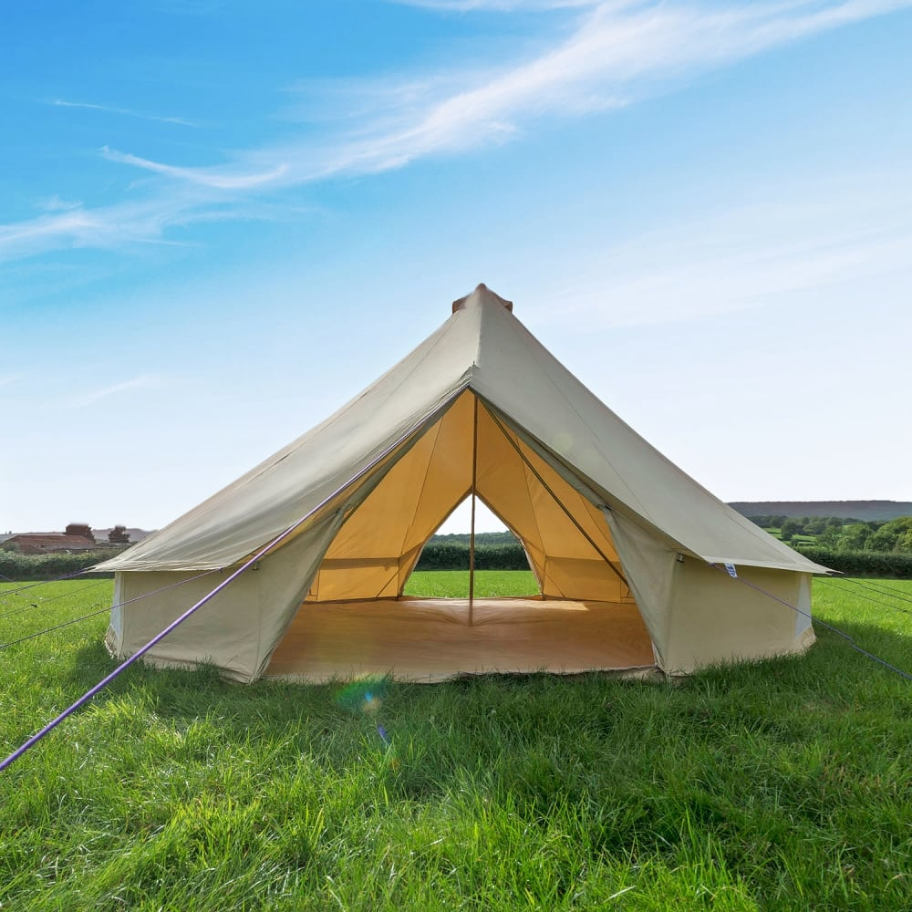 7m Sandstone Canvas Bell Tent - Double Door : bell tent boutique - memphite.com