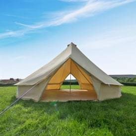 7m Sandstone Canvas Bell Tent  - Double Door