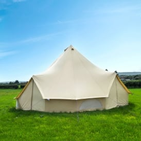 7m Sandstone Canvas Bell Tent  - Quad Door