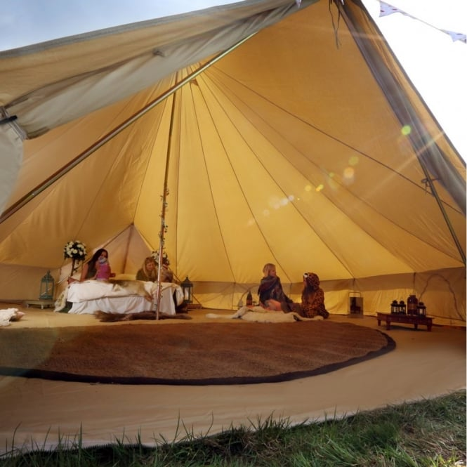 7m Sandstone Canvas Bell Tent - Single Door & 7m Sandstone Bell Tent | Boutique Camping