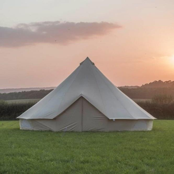 8m Sandstone Canvas Bell Tent - Single Door