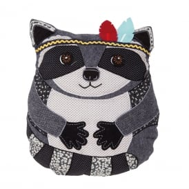 Arnie Raccon Animal Adventure Cushion