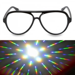Boutique Camping Aviator Glasses - Firework Lens