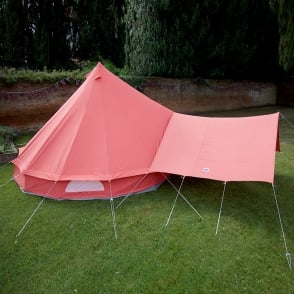 Bell Tent Canopy Awning - Coral Red