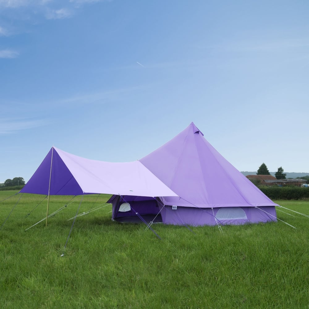 Boutique C&ing Bell Tent Canopy Awning - Pastel Lilac & Accessories