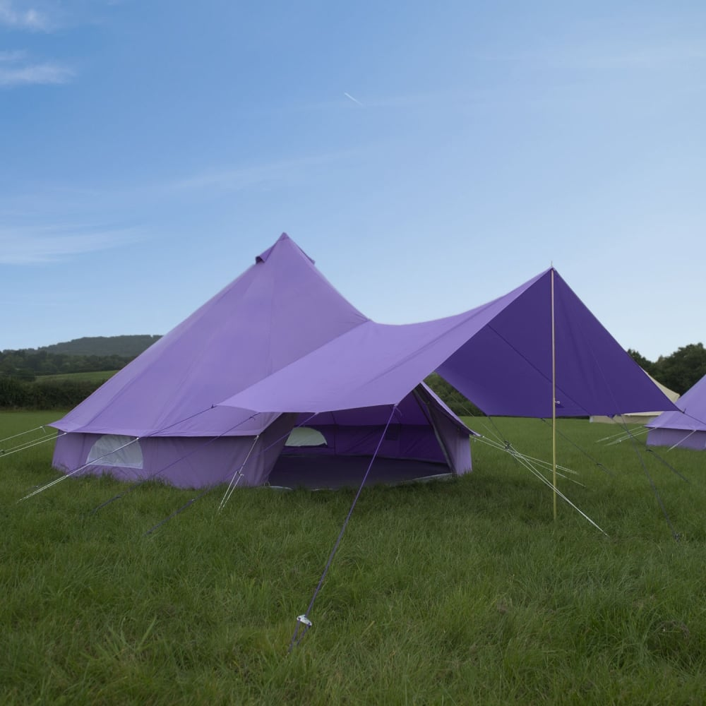 Bell Tent Canopy Awning - Pastel Lilac & Lilac Bell Tent Canopy | Boutique Camping