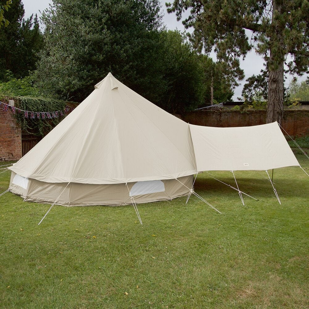 Bell Tent Canopy Awning - Sandstone & Sandstone Bell Tent Canopy | Boutique Camping