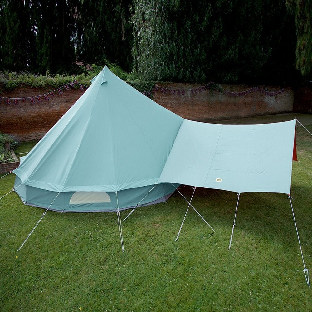Bell Tent Canopy Awning - Sky Blue & Sky Blue Bell Tent Canopy | Boutique Camping