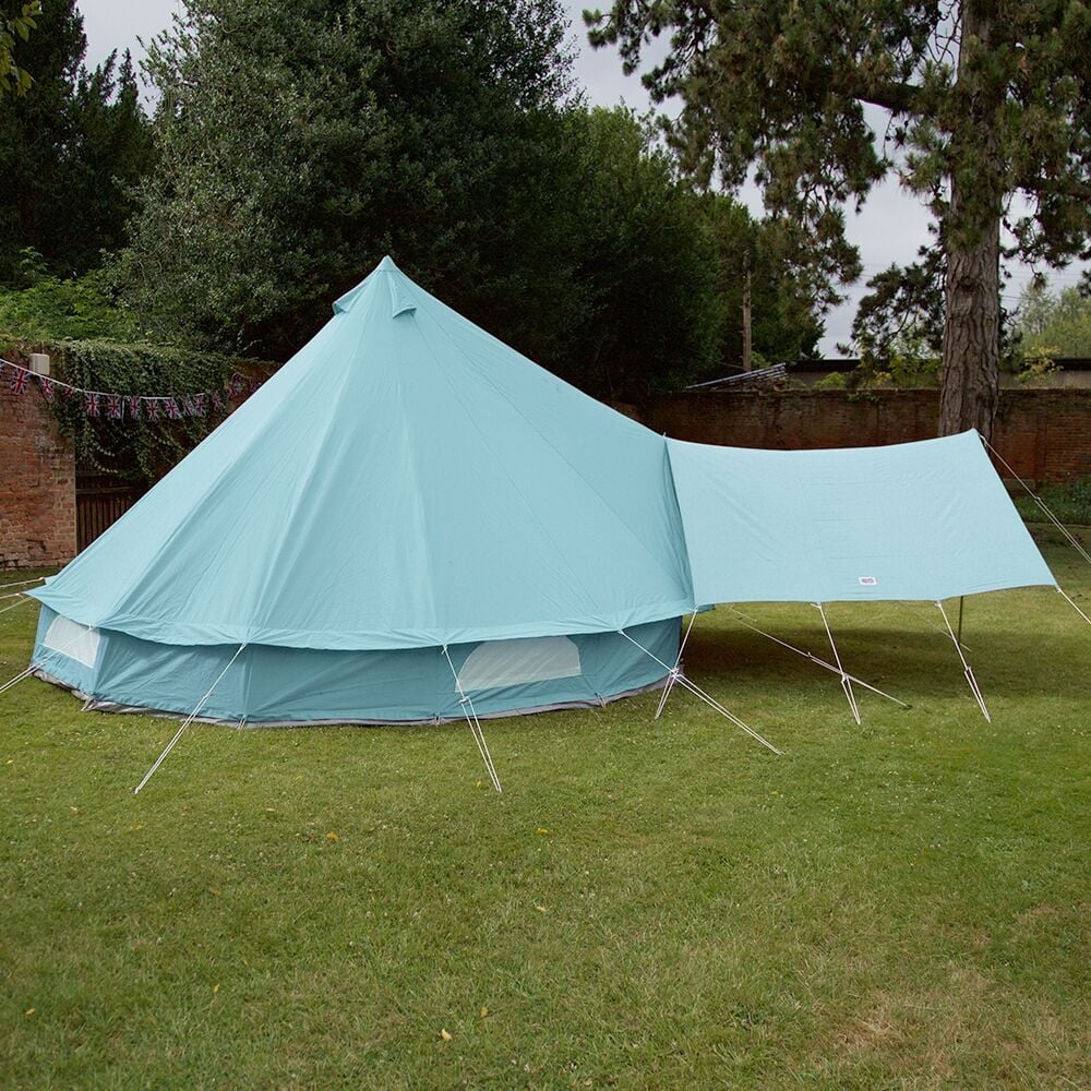 Boutique C&ing Tents Bell Tent Canopy Awning - Sky Blue & Sky Blue Bell Tent Canopy | Boutique Camping