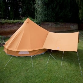 Bell Tent Canopy Awning - Tangerine Orange