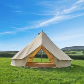 Boutique Camping Bell Tent - Canvas - Multi Door