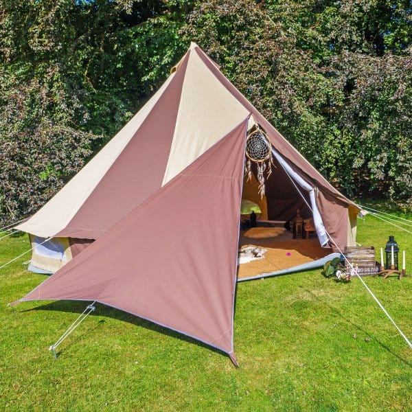 Bell Tent Triangle Tarp Chocolate Brown